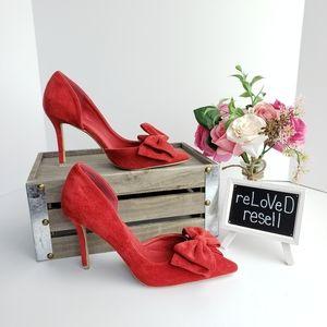 NWOT Red Suede Heels